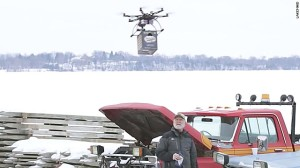 Beer delivery drone