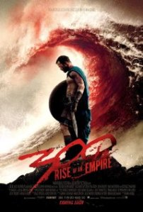 300: Rise of an Empire poster.  Gerard Butler, we hardly knew ye.
