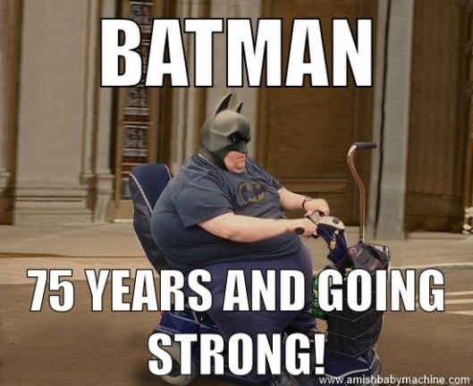 Batman 75 Years Old