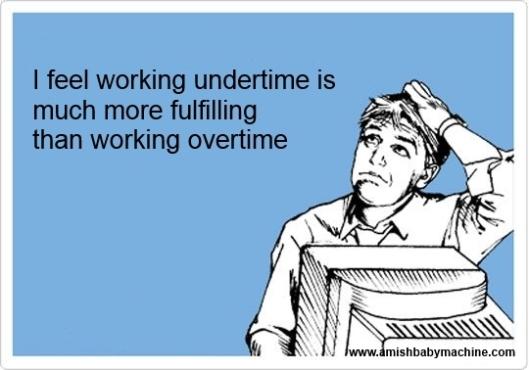 Working overtime ecard meme