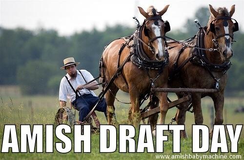 Amish Draft Day Meme
