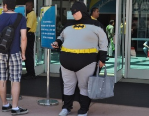 Can you be too fat to be Batman for cosplay?  Dags thinks so.