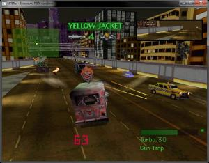 Twisted Metal for the Playstation.  Excellent gameplay with simple graphics.