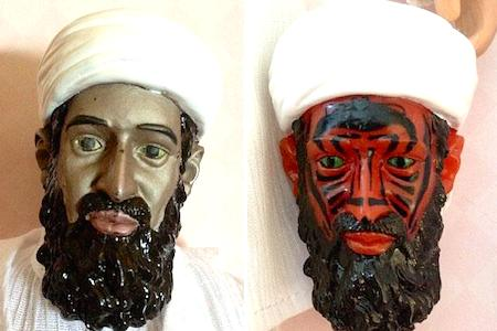 The CIA tried to develop a bin Laden doll whose face was heat sensitive and would turn into a demon.  Darth Maul much?