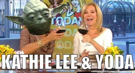 Kathie lee and Yoda meme
