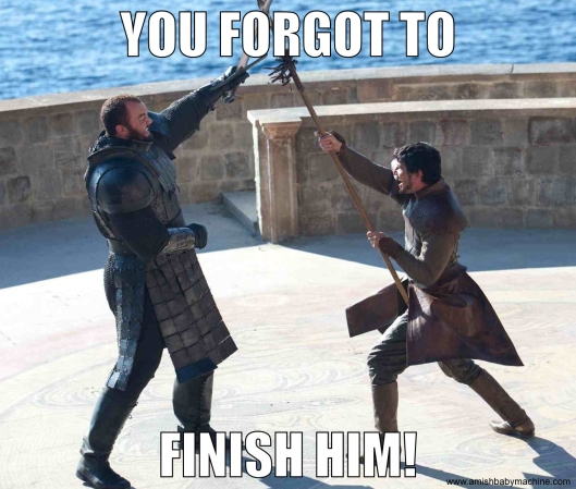 Oberyn vs. The Mountain meme