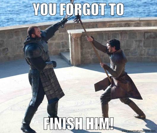 Oberyn vs. The Mountain meme