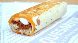 Taco Bell's latest menu item: the Quesarito.  A burrito wrapped in a quesadilla.  Finally!