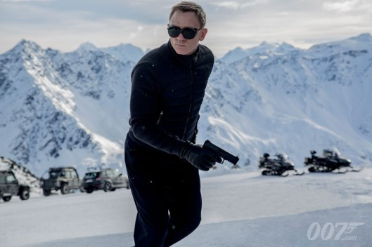 An image from the set of SPECTRE.  Being shot in the Swiss Alps.